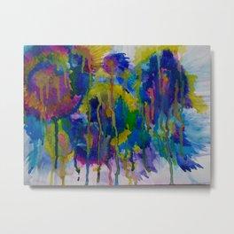 """""""Underwater Fireworks"""" Watercolor by Noora Elkoussy Metal Print"""