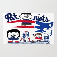 patriots Area & Throw Rugs featuring Team Patriots!  by Happy Positivity