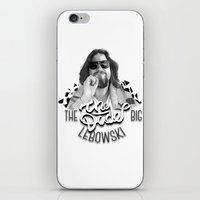 the big lebowski iPhone & iPod Skins featuring The Big Lebowski by KevinART
