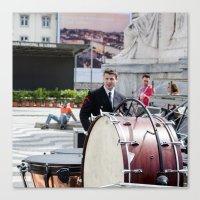 drums Canvas Prints featuring DRUMS by Sébastien BOUVIER