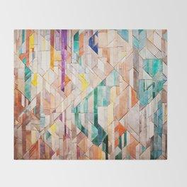 Pastel Tile Mosiac 1 Throw Blanket