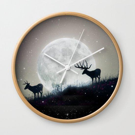 blue moon rising Wall Clock