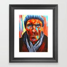 Éludé au fond d'un couloir Framed Art Print