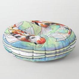 Koi Harmony Floor Pillow