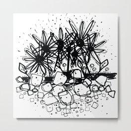 Scribble Doodle Flowers No.3A by Kathy Morton Stanion Metal Print