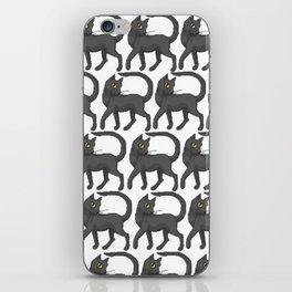 Sassy Black Cat (pattern) iPhone Skin