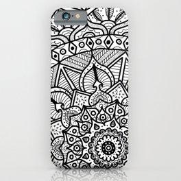 Circle of Life Mandala Black and White iPhone Case