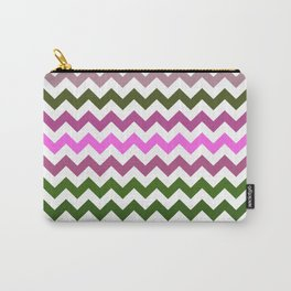Pink Roses in Anzures 1 Chevron 1 Carry-All Pouch