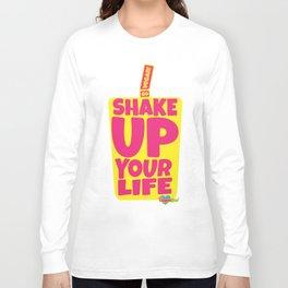 """Shake Up Your Life: Go Vegan"" from VegaFTW™ (Strawberry Banana) Long Sleeve T-shirt"