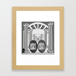 Necropolis Coins Palladium and Platinum 2 Framed Art Print