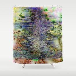 Metallic Rift Shower Curtain