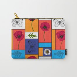 Poppies in colorful boxes Carry-All Pouch