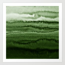WITHIN THE TIDES FOREST GREEN by Monika Strigel Art Print
