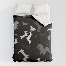 dachshund dog constellation Comforters