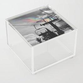 4 Seat Chair Lift Rainbow Sky B&W Acrylic Box