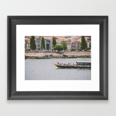 A ride on the river Framed Art Print
