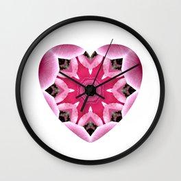 Mandala Heart Wall Clock
