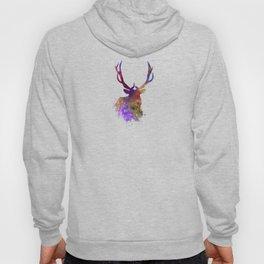 Elk 03 in watercolor Hoody