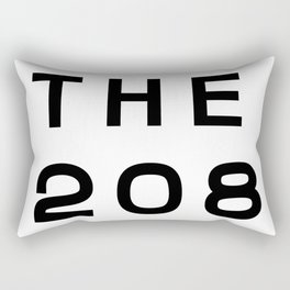208 Idaho Area Code Typography Rectangular Pillow