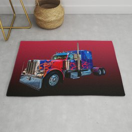 American Truck Red Rug