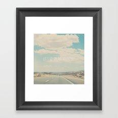 Lets go on an adventure ...  Framed Art Print