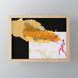 Fire Starter Framed Mini Art Print