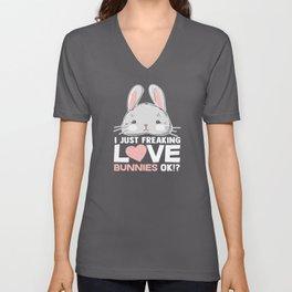 Bunny Love Unisex V-Neck
