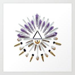 Passion Crystal Grid Art Print