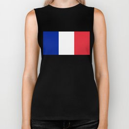 Flag of France, HQ image Biker Tank