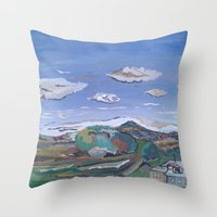 country Throw Pillows featuring Country by Thomas Madden