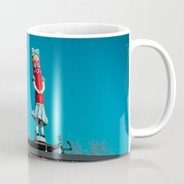 Vintage Superdawg Drive-In Sign and Mascots Chicago Illinois Icon Coffee Mug