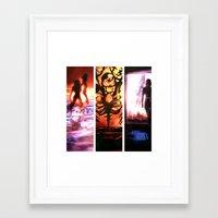 mass effect Framed Art Prints featuring Mass Effect by Vaahlkult