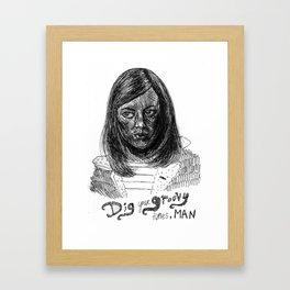 Dig your groovy tunes, man Framed Art Print