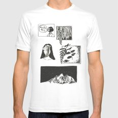 Comic Strip Mens Fitted Tee White MEDIUM