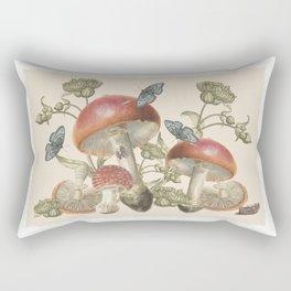 Mushroom Vintage Entomology Musings Rectangular Pillow