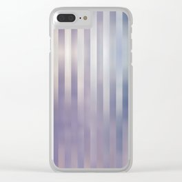 Lilac blue stripes Clear iPhone Case