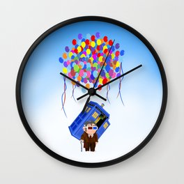 Cute Old 10th doctor who with flaying tardis iPhone 4 4s 5 5c 6, pillow case, mugs and tshirt Wall Clock