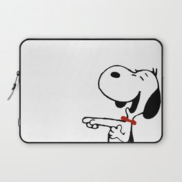 snoopy_laughing Laptop Sleeve