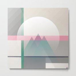 Green Line - Mountains Metal Print