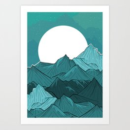 The Turquoise Mounts Art Print