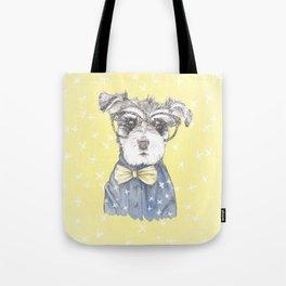 Schnauzer Dog Hipster Pup Tote Bag