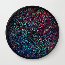 DAZZLE DARKER - Low-key rainbow sparkle Wall Clock