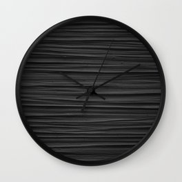 Black Smooth Texture (Black and White) Wall Clock