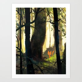 Bored in the Woods Art Print