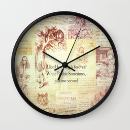 How long is forever? Alice in Wonderland Wall Clock