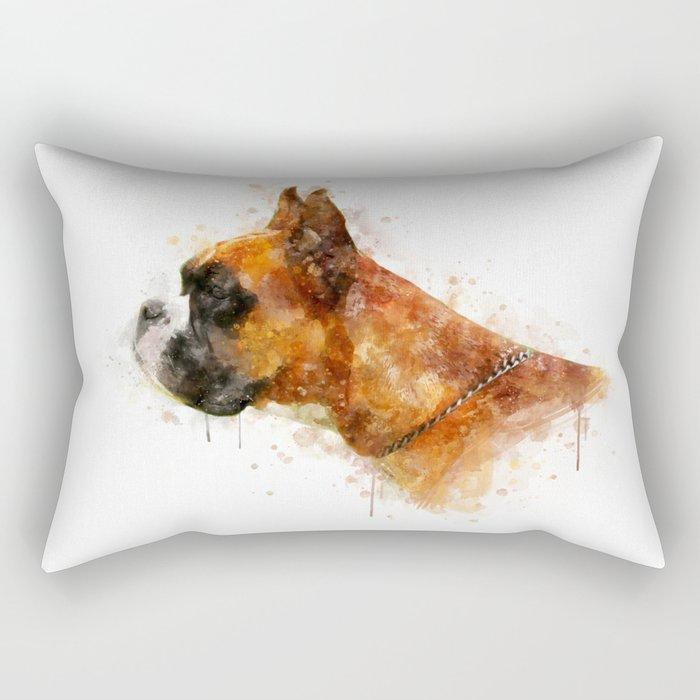 Boxer watercolor Rectangular Pillow