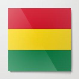 Flag of bolivia-bolivian,spanish,america,south america,latin america,coffee,Santa cruz,Sucre,La paz Metal Print
