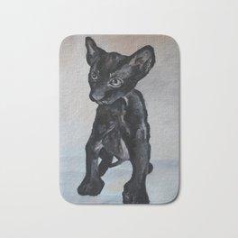 Black cat, animal, sphinx Bath Mat