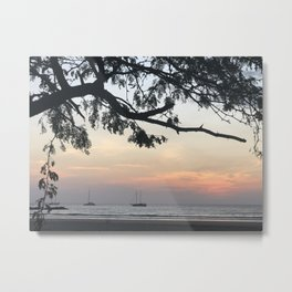 Peaceful Ocean Sunset Metal Print