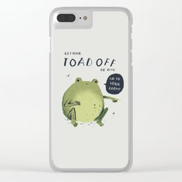 Toad off Clear iPhone Case